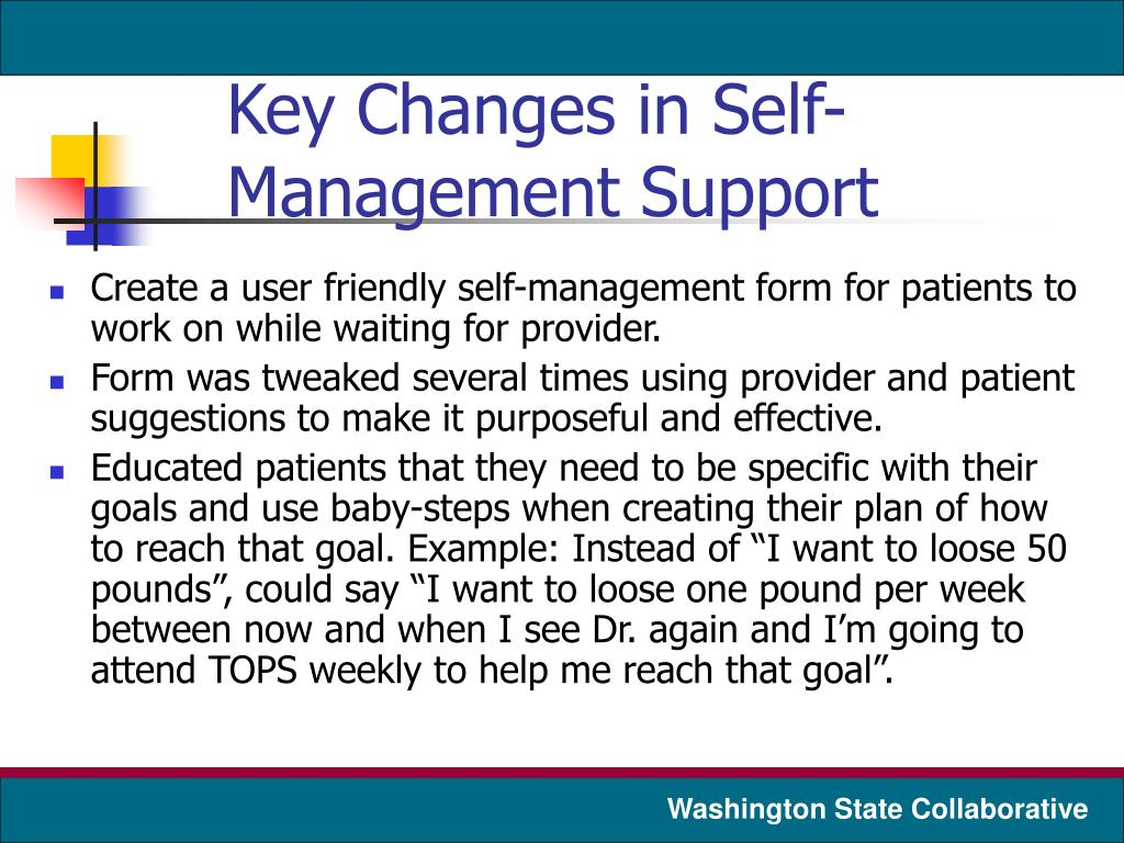 Key Changes in Self-Management Support