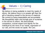values 1 caring