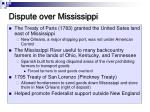 dispute over mississippi