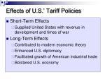 effects of u s tariff policies