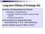 long term effects of embargo act