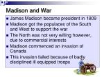 madison and war