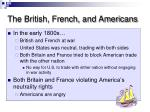the british french and americans