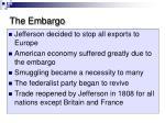 the embargo
