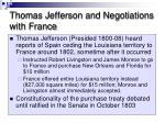 thomas jefferson and negotiations with france