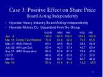 case 3 positive effect on share price board acting independently