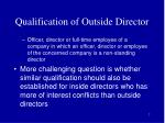 qualification of outside director7