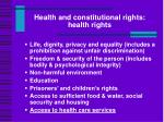 health and constitutional rights health rights