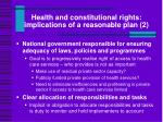 health and constitutional rights implications of a reasonable plan 2