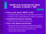 health and constitutional rights minister of health v tac