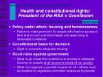 health and constitutional rights president of the rsa v grootboom