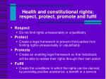 health and constitutional rights respect protect promote and fulfil