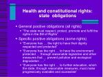 health and constitutional rights state obligations