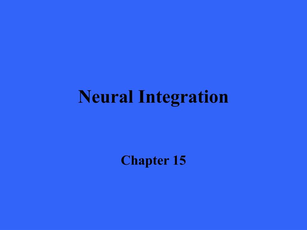 neural integration l.