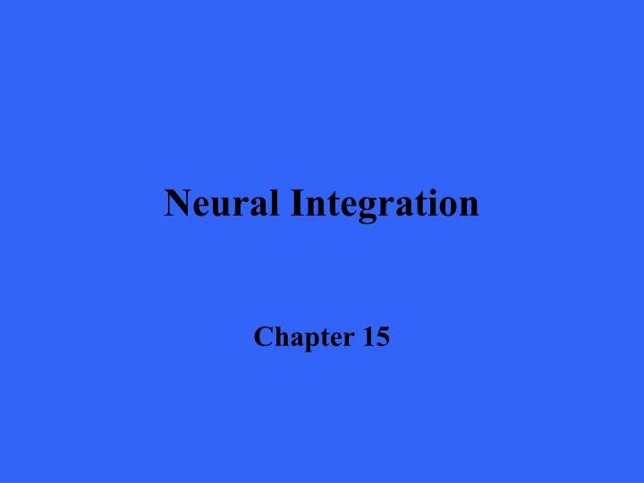 neural integration n.