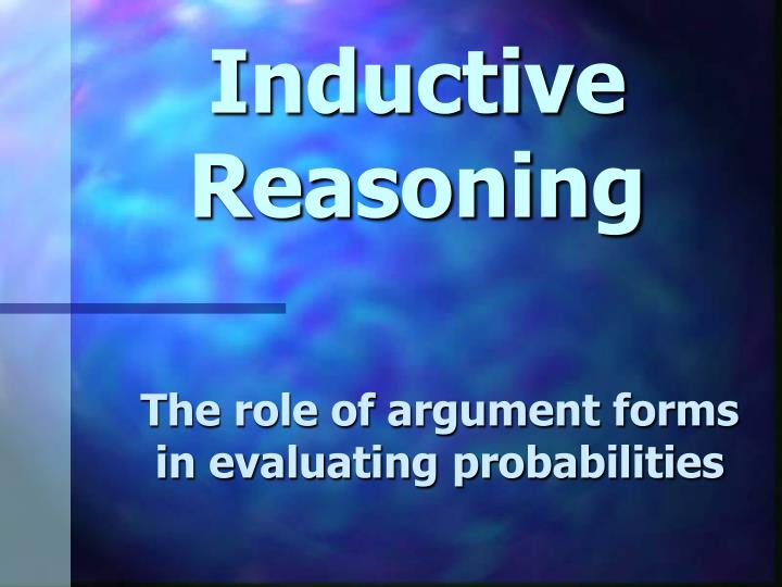 inductive reasoning n.