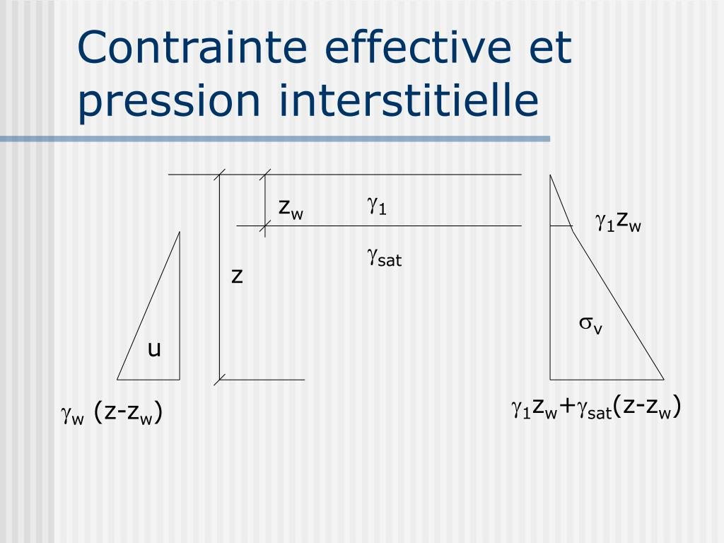 Contrainte effective et pression interstitielle