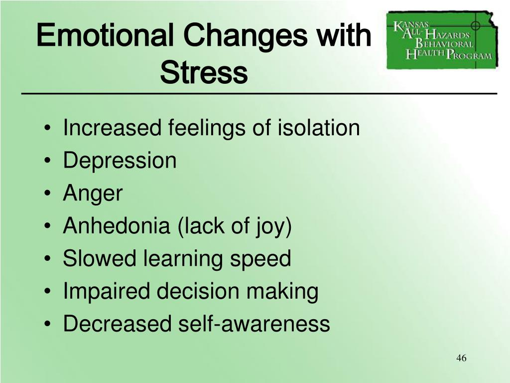 Emotional Changes with Stress