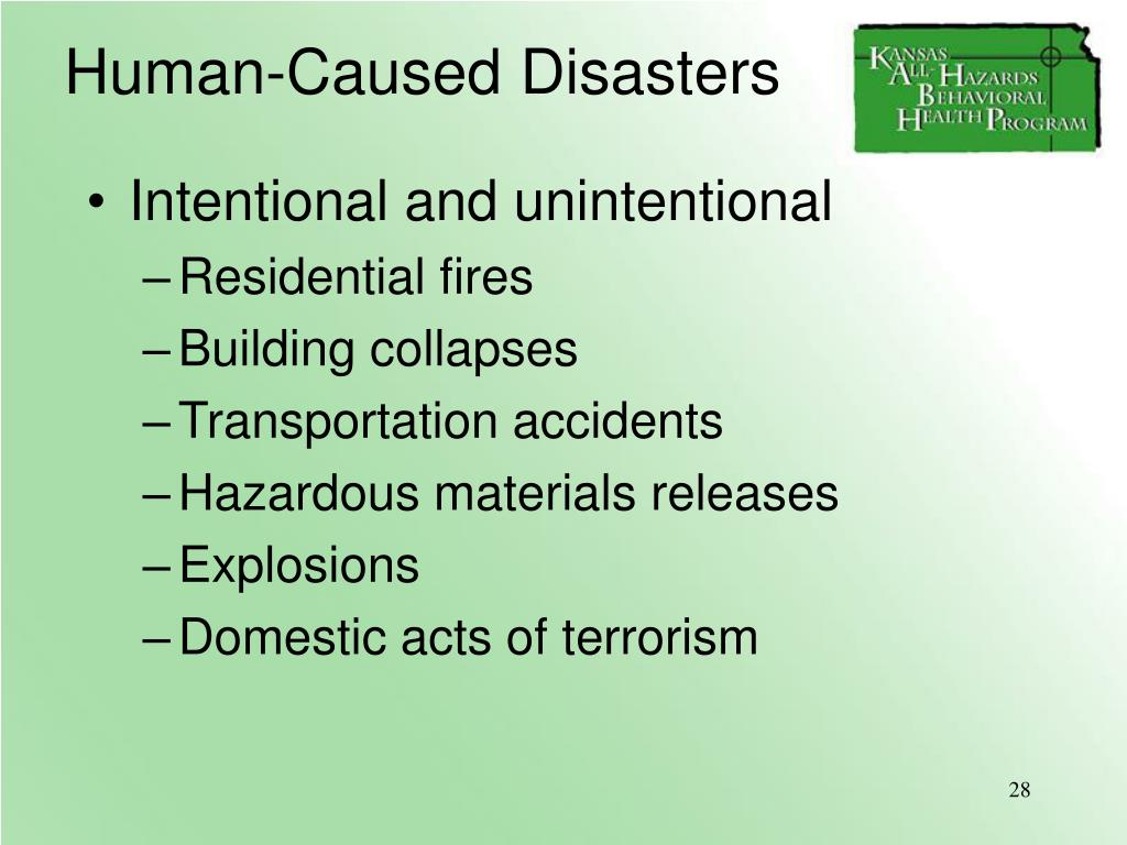 Human-Caused Disasters
