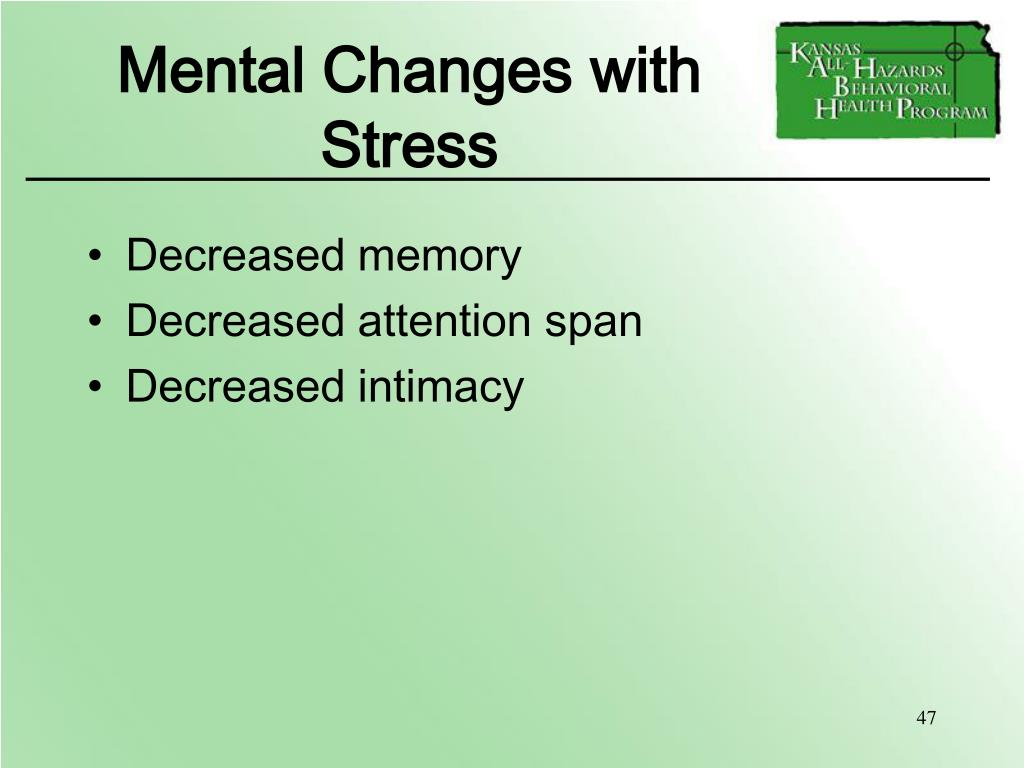 Mental Changes with