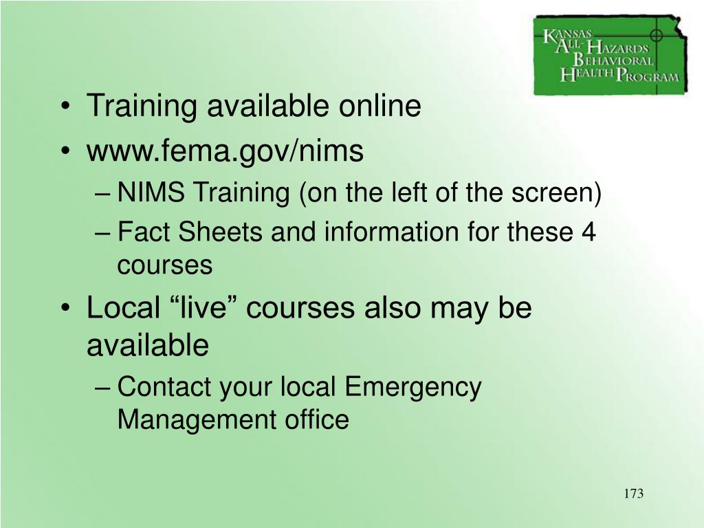 Training available online