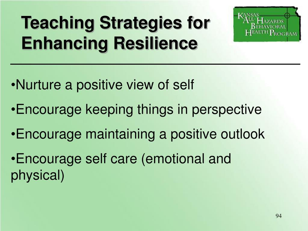 Teaching Strategies for Enhancing Resilience