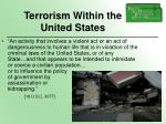 terrorism within the united states