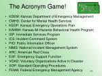 the acronym game122