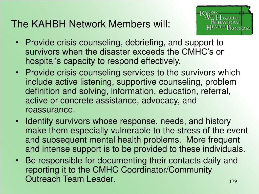 The KAHBH Network Members will: