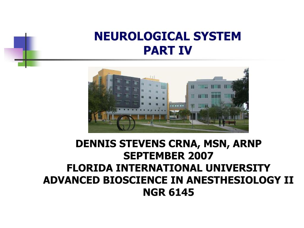 neurological system part iv l.