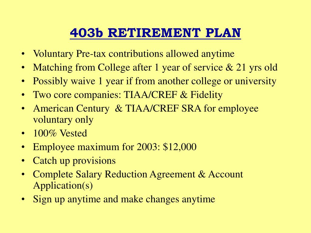 403b RETIREMENT PLAN