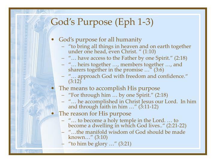God s purpose eph 1 3