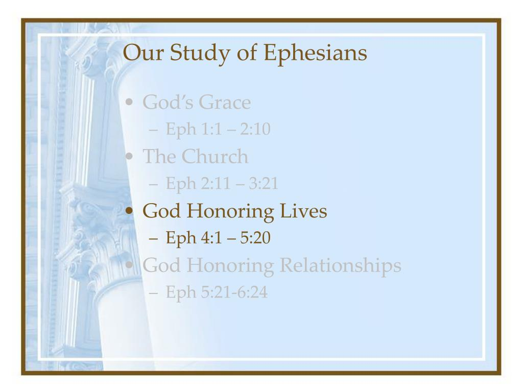 Our Study of Ephesians