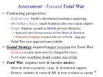 assessment toward total war