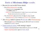 battle of missionary ridge results