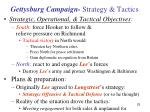gettysburg campaign strategy tactics