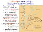 vicksburg final campaign engagements battle execution