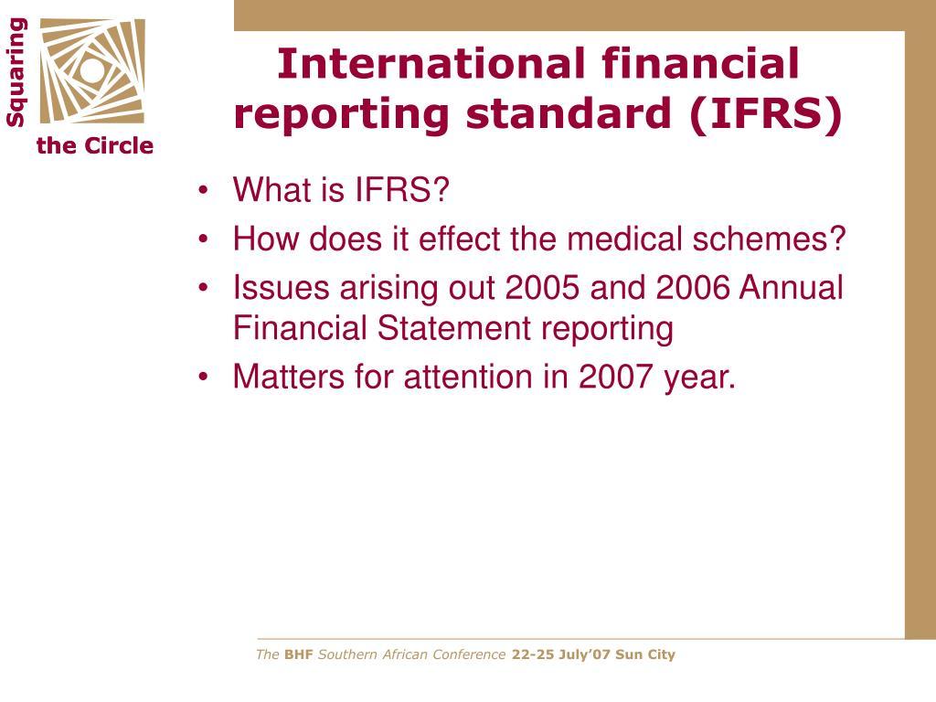 international financial reporting standard ifrs l.