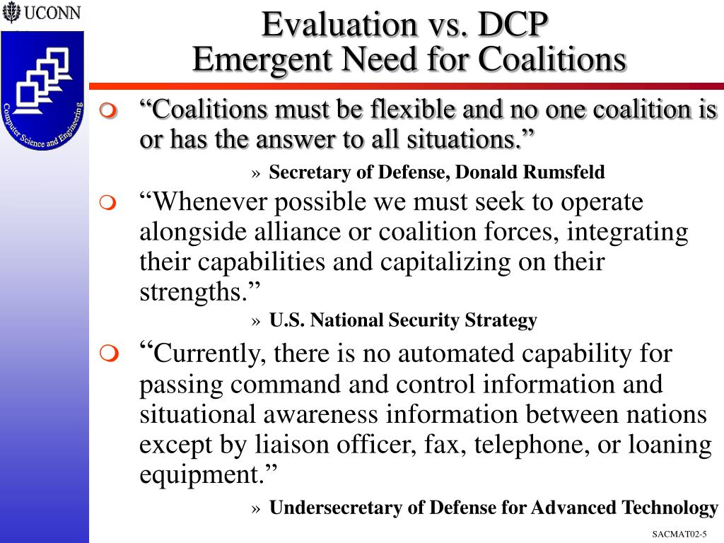 Evaluation vs. DCP