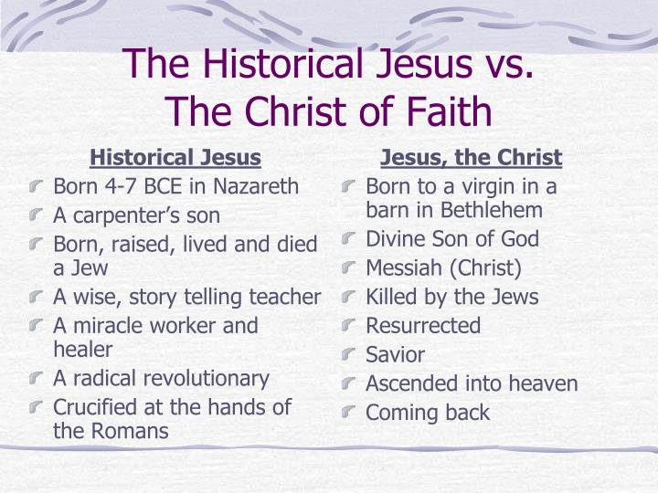 The historical jesus vs the christ of faith