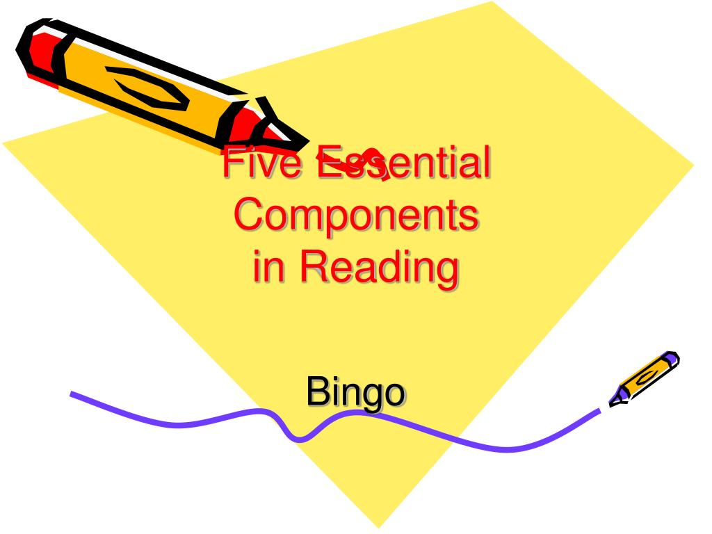 five essential components in reading l.