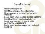 benefits to us