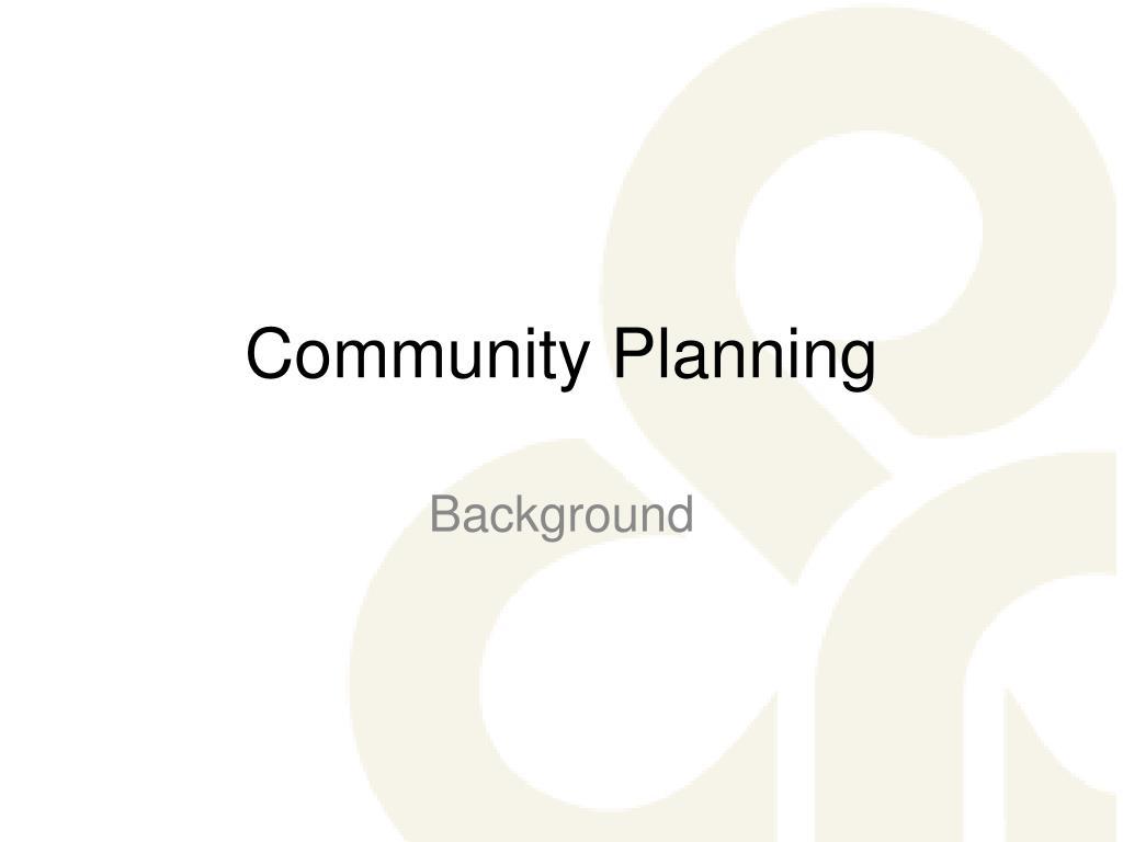 community planning l.