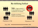 re defining indian