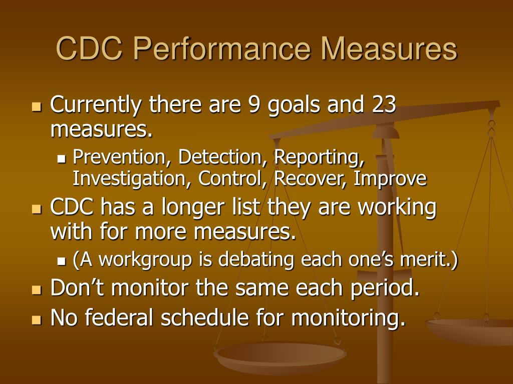 CDC Performance Measures