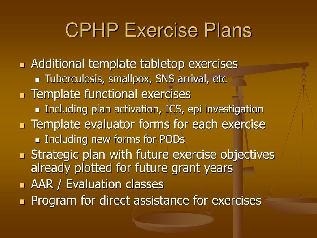 CPHP Exercise Plans