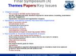 final symposium 4 themes papers key issues