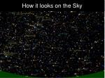 how it looks on the sky