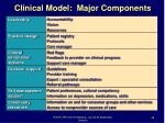 clinical model major components