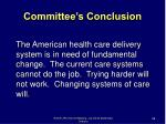 committee s conclusion